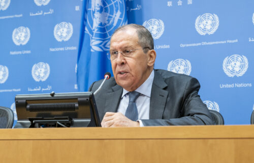 Press conference by Minister for Foreign Affairs of the Russian Federation Sergey Lavrov at UN Headquarters during United Nations High week.