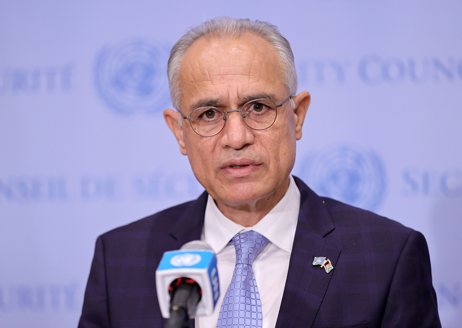 <i>Luiz Rampelotto/DPA/Picture Alliance/SIPA</i><br/>Afghanistan's UN representative Ghulam Isaczai -- an appointee of the country's former democratic government