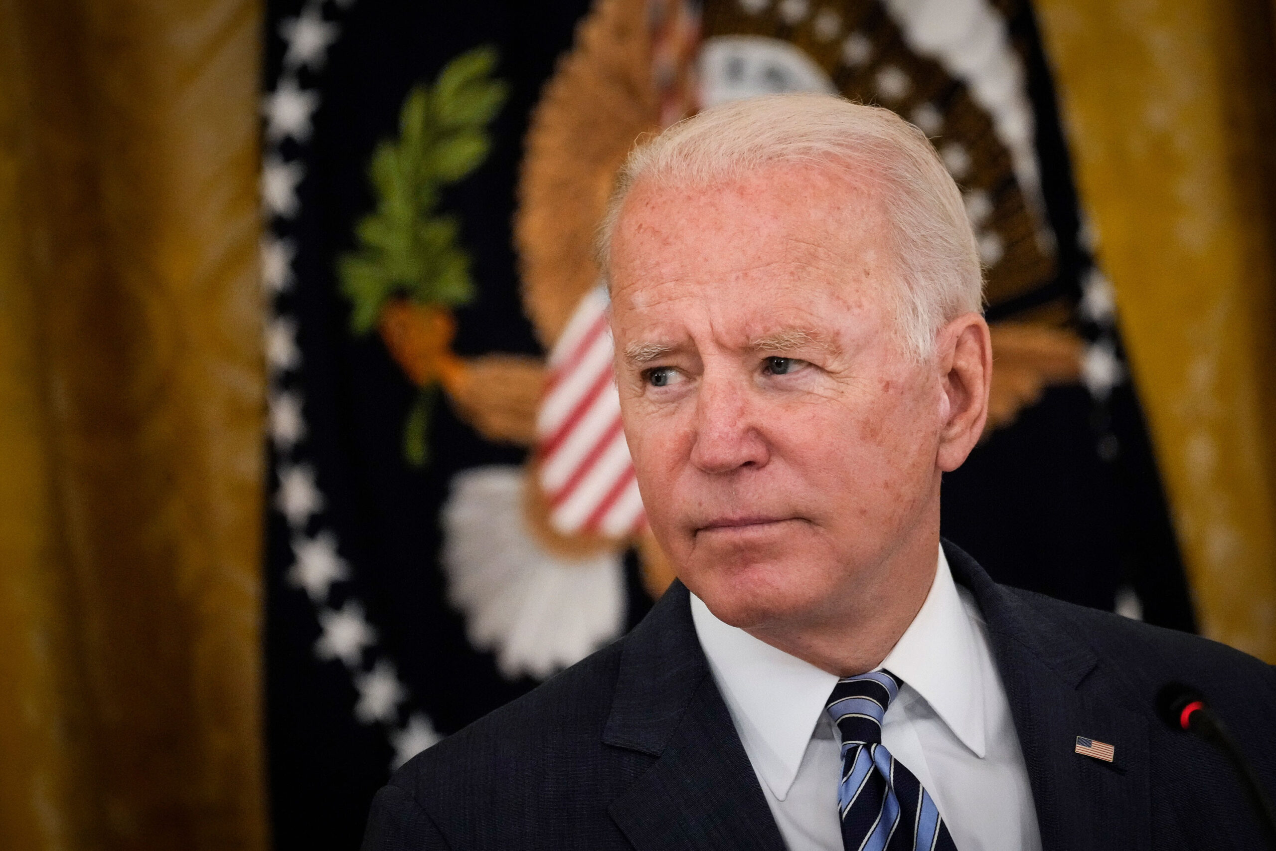 <i>Drew Angerer/Getty Images</i><br/>President Joe Biden on Friday urged Democrats to pass massive infrastructure and social safety net legislation at a time when sharp disagreements between moderate and progressive members of his party threaten his domestic agenda.