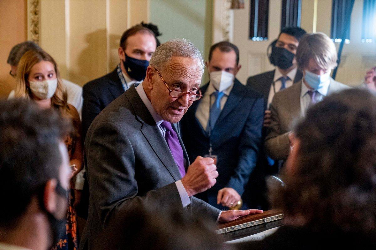 <i>Andrew Harnik/AP</i><br/>Senate Majority Leader Chuck Schumer