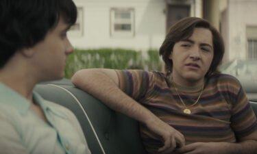 Michael Gandolfini (right) plays the young Tony Soprano in 'The Many Saints of Newark.'