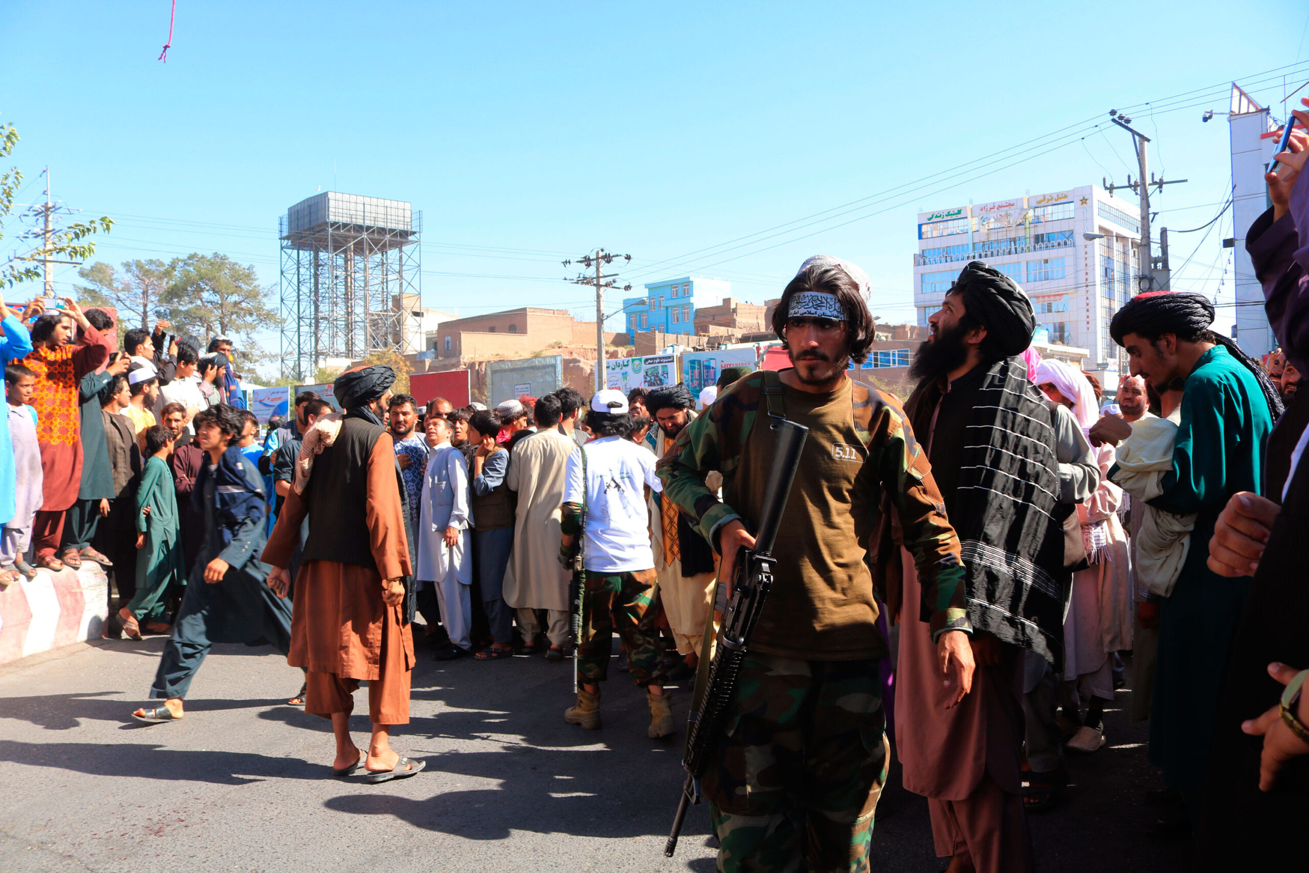<i>AP</i><br/>The Taliban in Afghanistan have put on public display the bodies of four men who were killed after they allegedly carried out a kidnapping in the western city of Herat.