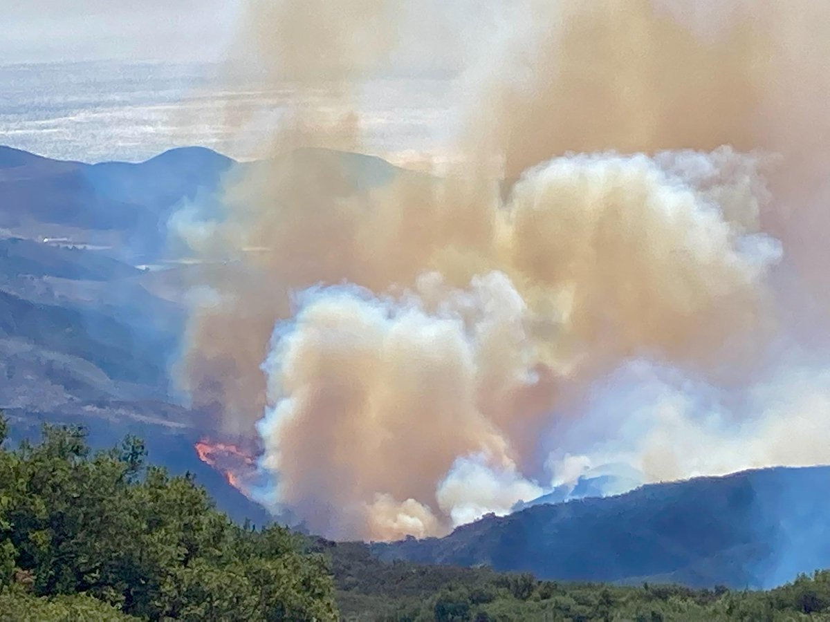 View of Alisal Fire from Reagan Ranch