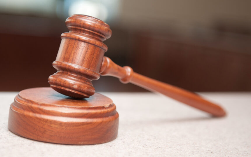 Generic court gavel lawsuit arraignment judgment keyt