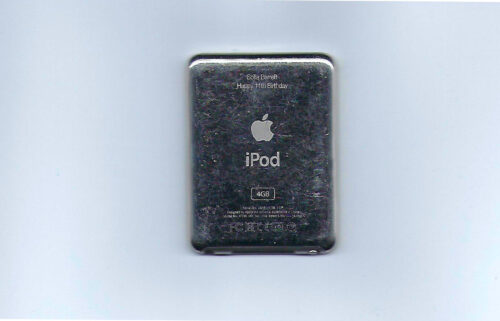 An engraved iPod Nano is pictured.
