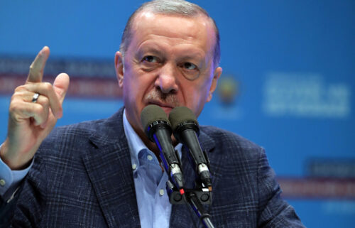Turkish President and leader of the Justice and Development Party (AK Party) Recep Tayyip Erdogan.