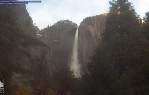Yosemite Falls flows again on October 25