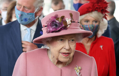 """Queen Elizabeth II has """"reluctantly"""" accepted medical advice to cancel a trip to Northern Ireland. The Queen is seen here at the opening ceremony of the sixth session of the Welsh Parliament in Cardiff"""