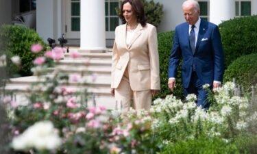 President Joe Biden (right) and Vice President Kamala Harris