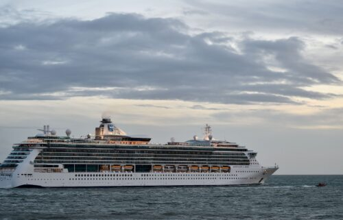 Royal Caribbean Cruises liner Serenade of the Sea shown here in France.